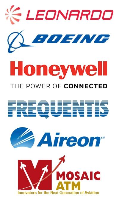 Gold Leonardo Silver Boeing Honeywell Bronze Frequentis Supporter Aerion Mosaic ATM